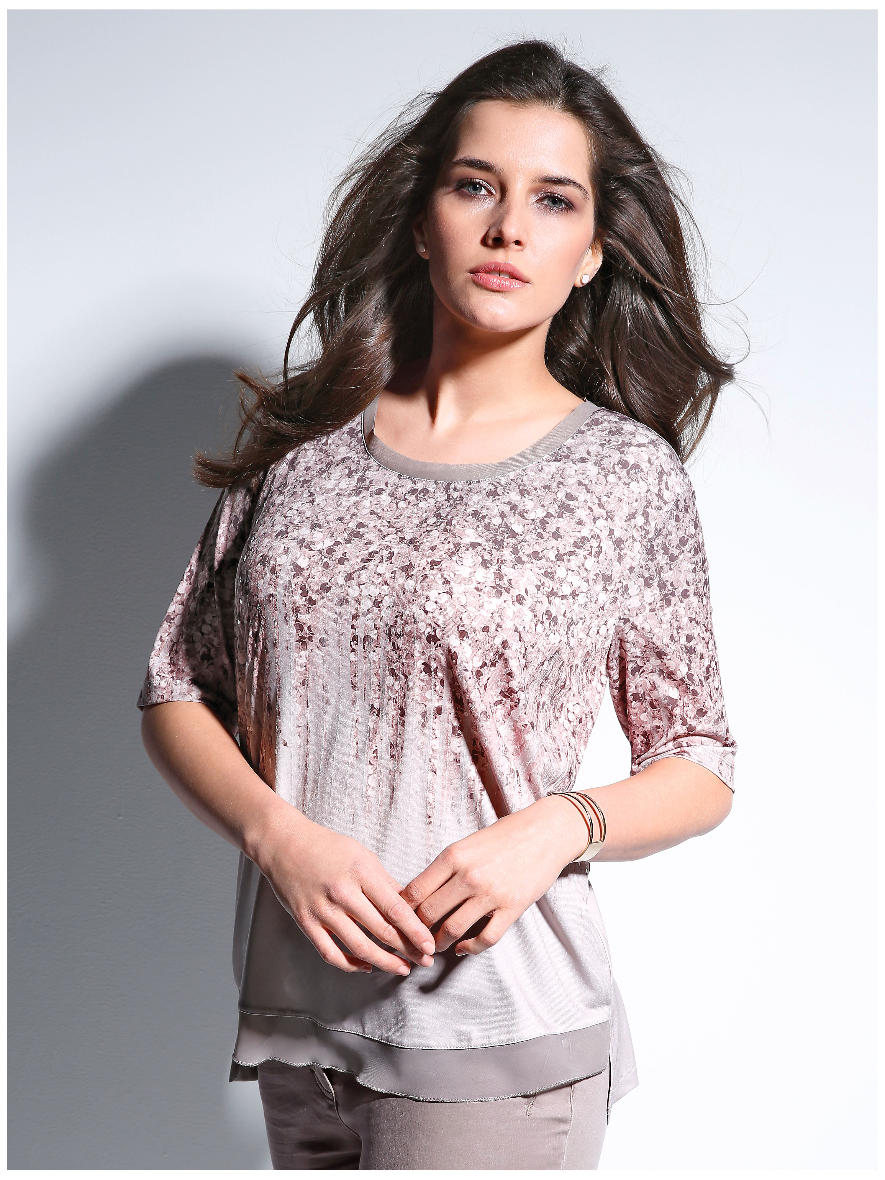 Round neck top from Samoon multicoloured
