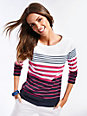 Brax Feel Good - Striped top with ­3/4-length sleeves
