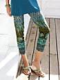 Green Cotton - 7/8-length slip-on trousers