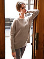 Peter Hahn - Round neck jumper in 100% new milled wool