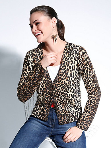 Anna Aura - Downy soft cardigan with leopard pattern