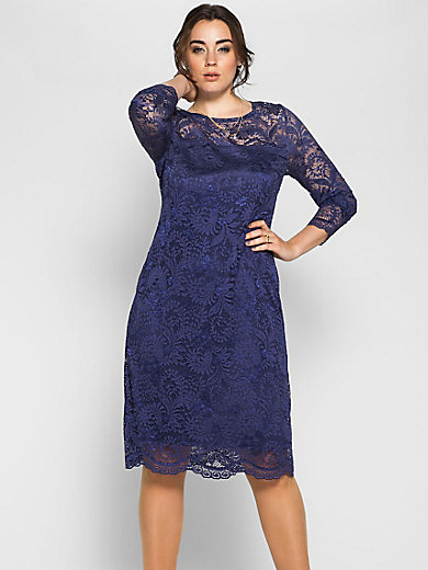 Anna Scholz for sheego - Lace dress with a round neckline