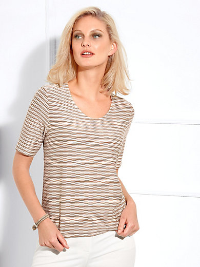 Basler - Round neck top with 1/2-length sleeves