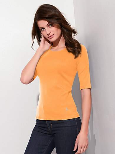 Bogner - Round neck top with 1/2-length sleeves