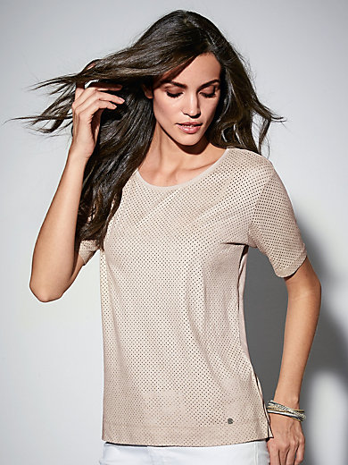 Brax Feel Good - Round neck top with short sleeves