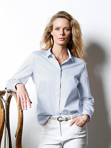 DAY.LIKE - Blouse with decorative contrasting stitching
