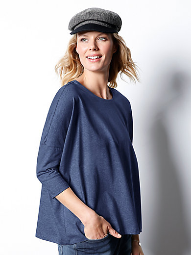 DAY.LIKE - Round neck top with 3/4-length sleeves