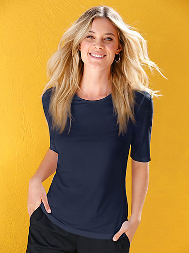 Efixelle - Round neck top with 1/2-length sleeves