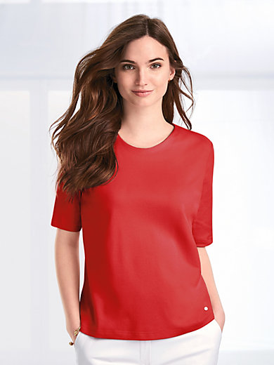 Efixelle - Round neck top with elbow length sleeves