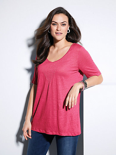 Emilia Lay - V-neck top with short sleeves