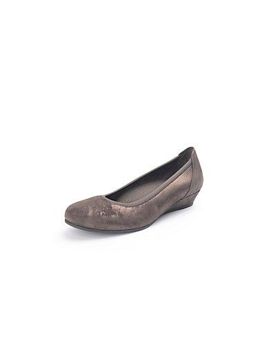 gabor ballerina pumps dark taupe metallic. Black Bedroom Furniture Sets. Home Design Ideas