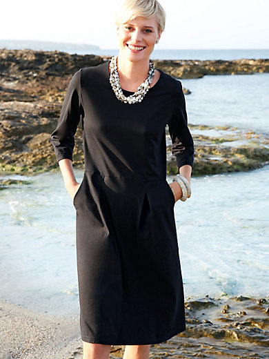 Green Cotton - Dress with 3/4-length sleeves