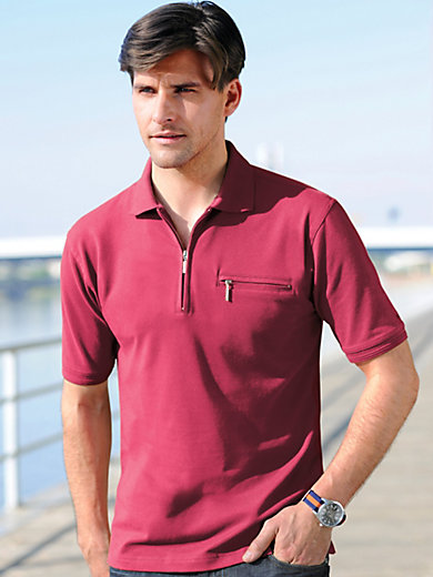 HAJO - Easy-care polo shirt with 1/2-length sleeves