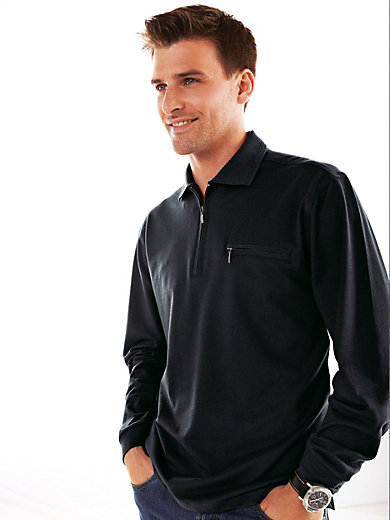 HAJO - Sporty polo shirt with long sleeves