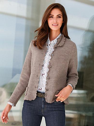Hammerschmid - Milled wool cardigan in 100% wool