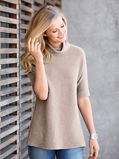 include - Roll-neck jumper in 100% cashmere