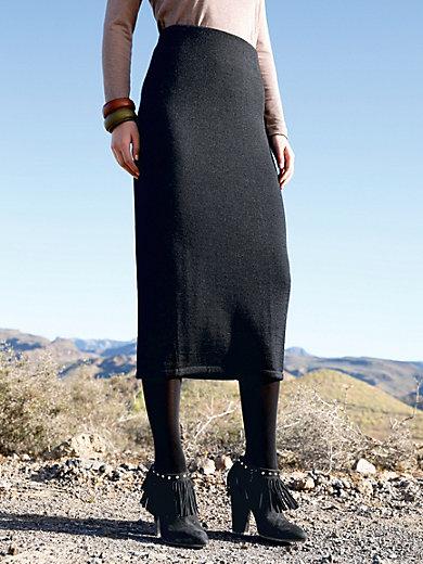 Inkadoro - Knitted skirt in 100% alpaca