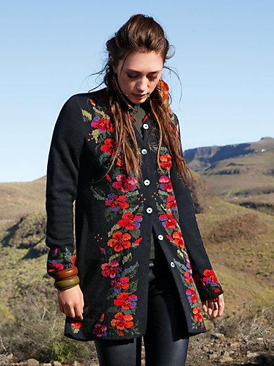 Inkadoro - Long knitted cardigan in 100% alpaca