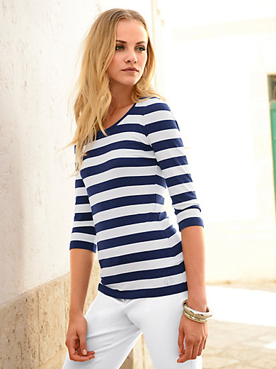 Laurèl - Round neck top with 3/4-length sleeves