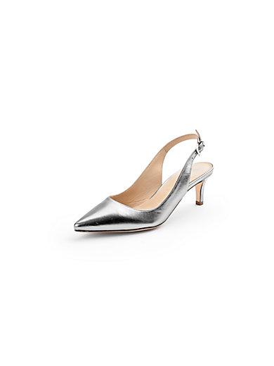 Ledoni - Cowskin leather slingback pumps