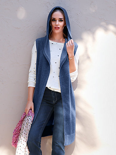 LIEBLINGSSTÜCK - Knitted gilet in 100% new milled wool