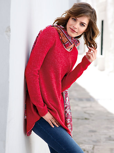 LIEBLINGSSTÜCK - Long jumper in 100% new milled wool