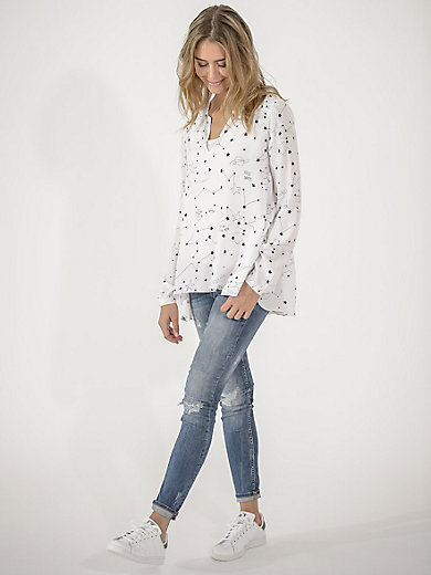 LIEBLINGSSTÜCK - V neck viscose blouse in an A line cut