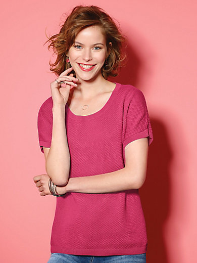 Looxent - Round neck jumper with extended 1/2-length sleeves