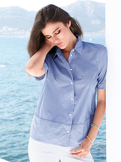 Peter Hahn - Blouse with 1/2-length sleeves in 100% cotton