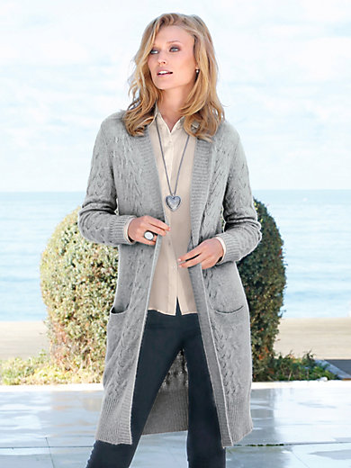 Peter Hahn Cashmere - Knitted coat in 100% cashmere