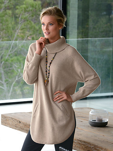 Peter Hahn Cashmere - Roll-neck jumper in 100% cashmere