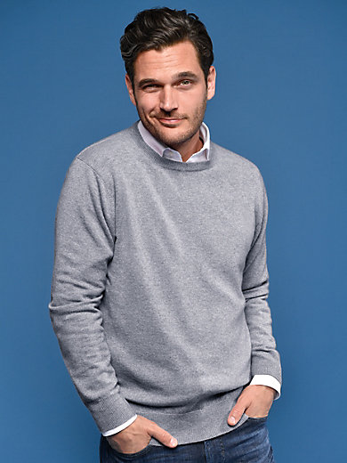 Peter Hahn Cashmere - Round neck jumper in 100% cashmere - Design RALPH