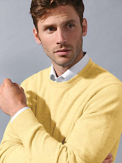 Peter Hahn Cashmere - Round neck jumper in 100% cashmere - Design RALPH