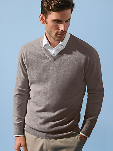 Peter Hahn Cashmere - V-neck jumper in 100% cashmere - Design VALENTIN
