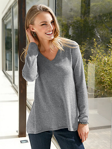 Peter Hahn Cashmere - V neck jumper in 100% cashmere