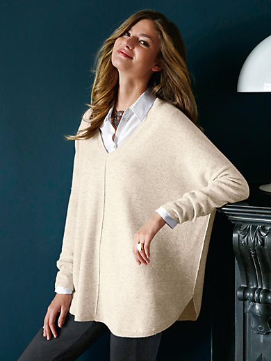 Peter Hahn Cashmere - V-neck jumper in 100% cashmere