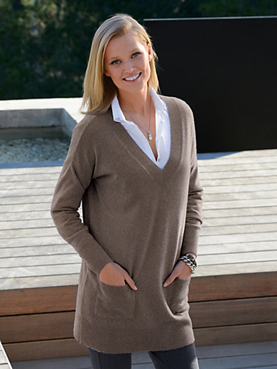 Peter Hahn Cashmere - V neck jumper in pure cashmere