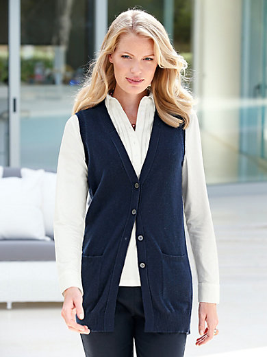 Peter Hahn Cashmere - Waistcoat in 100% cashmere
