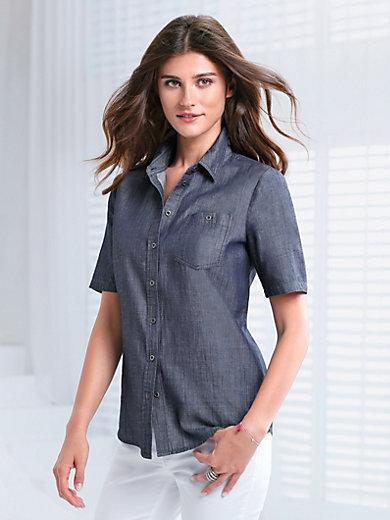 Peter Hahn - Denim shirt with short sleeves