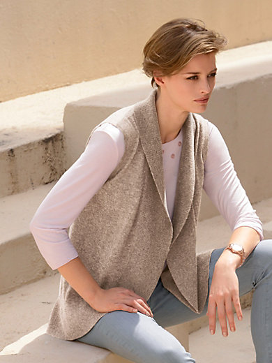 Peter Hahn - Gilet in 100% new milled wool