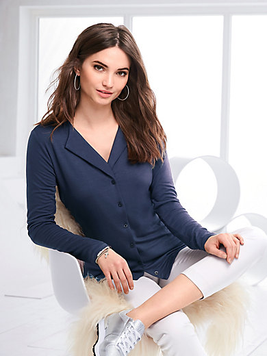 Peter Hahn - Jersey blouse with long sleeves