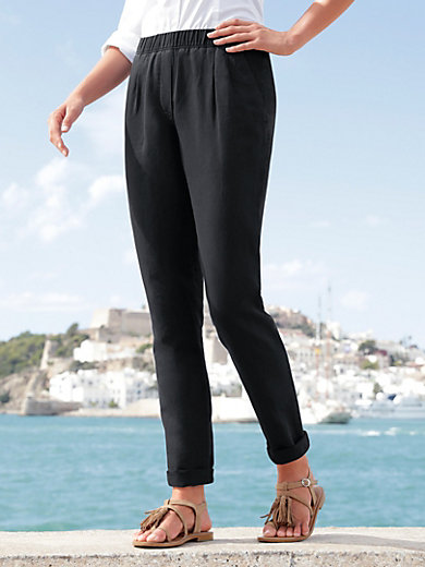 Peter Hahn - Pleated pull-on trousers