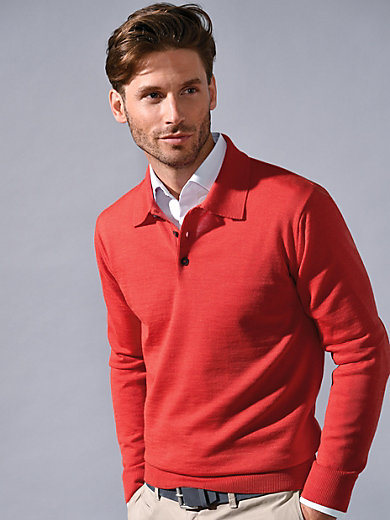 Peter Hahn - Polo jumper in 100% new milled wool - Design ACHIM