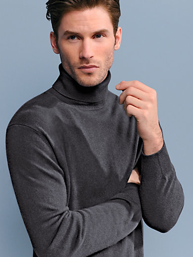 Peter Hahn - Polo neck jumper in 100% cashmere