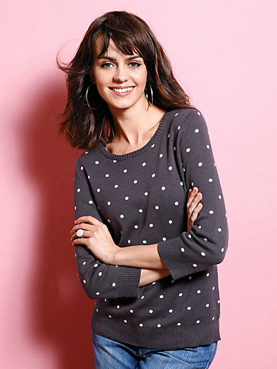 Peter Hahn - Round neck pullover with 3/4-length sleeves