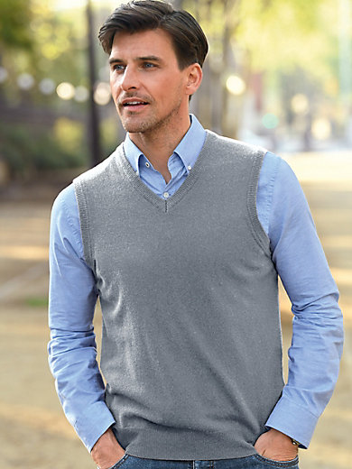 Peter Hahn - Sleeveless jumper in 100% new milled wool