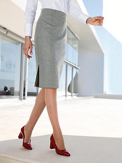 Peter Hahn - Straight-cut tweed skirt