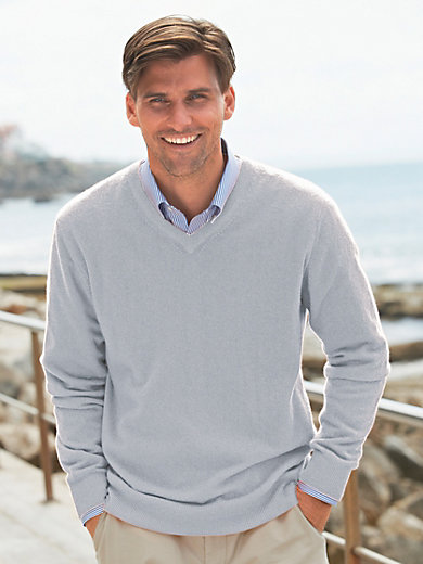 Peter Hahn - V-neck jumper in 100% cashmere - Design VALENTIN