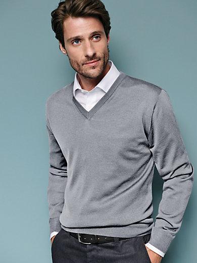 Peter Hahn - V-neck jumper in 100% new wool - Design MARCO