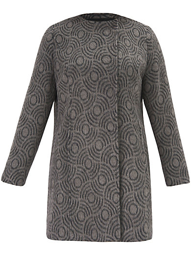 Samoon - Coat with a fashionable pattern